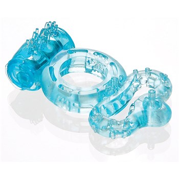 Couples Dual Pleasure Ring laying on table