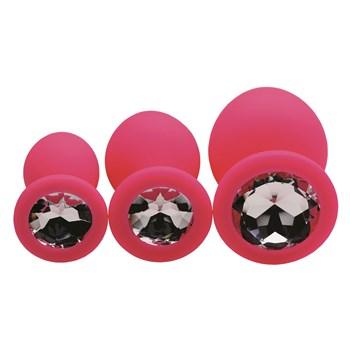Pink Gem Anal Trainer Kit jeweled ends