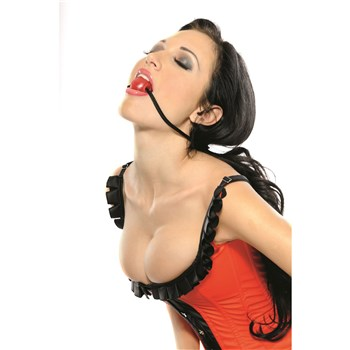 Candy Ball Gag shown in models mouth