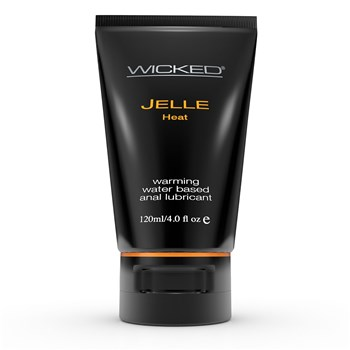 Wicked Anal Jelle Heat Lubricant front of bottle