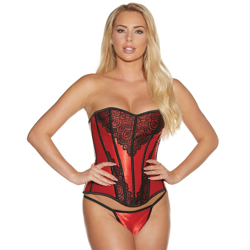 Adam & Eve Satin & Lace Corset