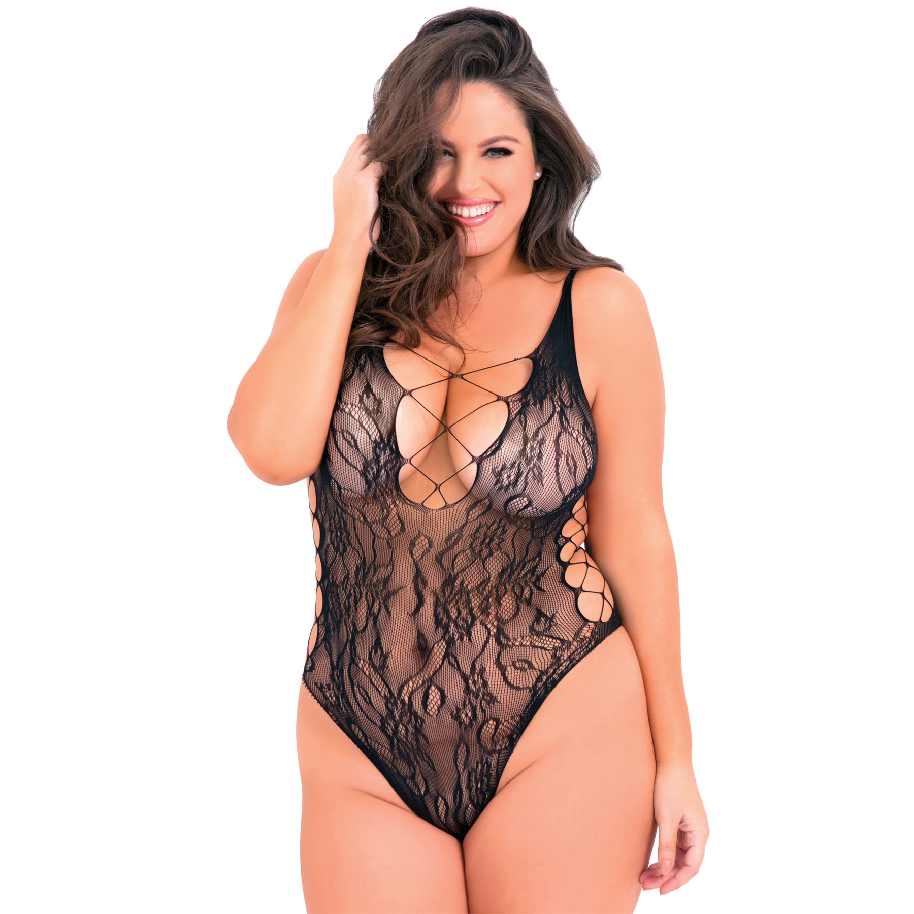 cb9caff809b Laced Up Sexy Bodysuit - Women's Lingerie - Adam & Eve