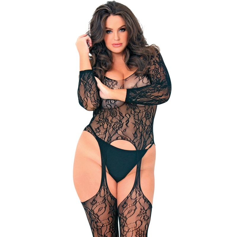 Seductive Floral Lace Bodystocking