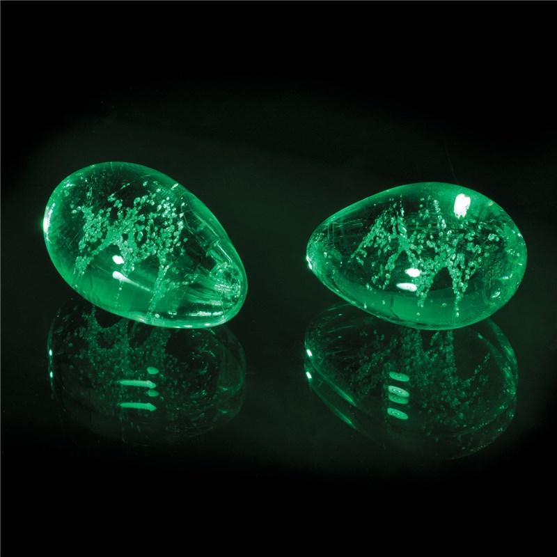 Firefly Glow-In-The-Dark Glass Kegel Eggs