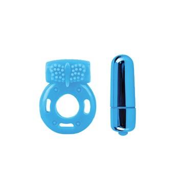 Neon Vibrating Couples Kit blue bullet