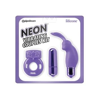 Neon Vibrating Couples Kit purple package