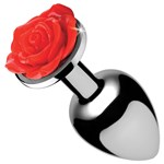 Booty Sparks Red Rose Anal Plug showing size