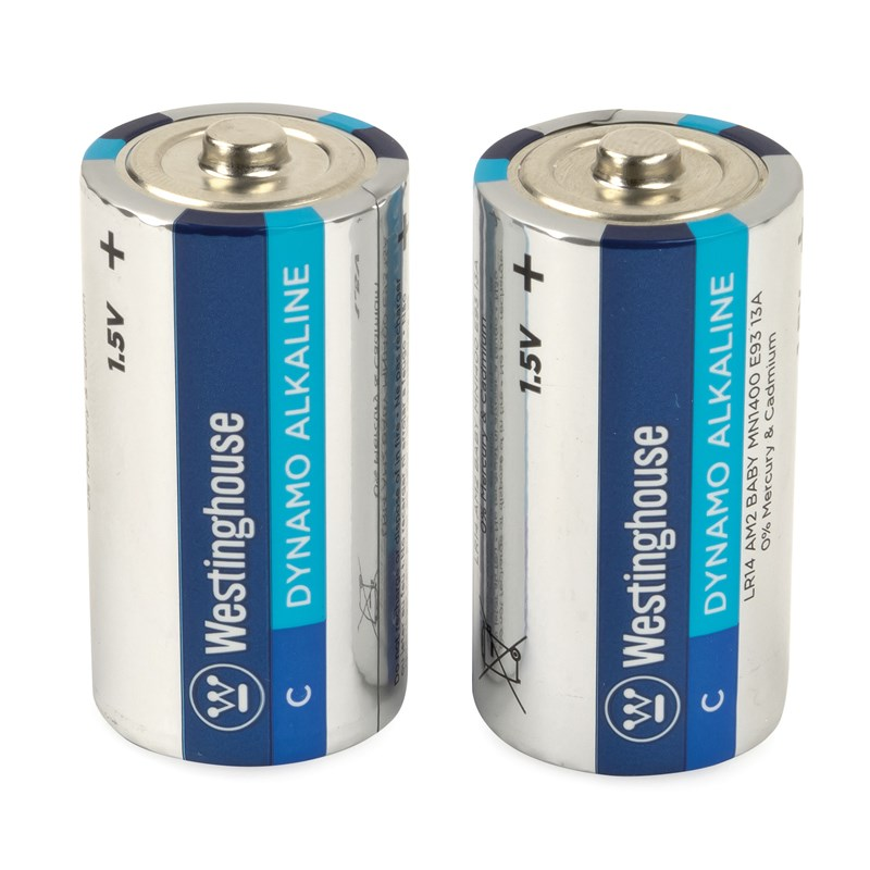Westinghouse C Cell Batteries (2 pack)