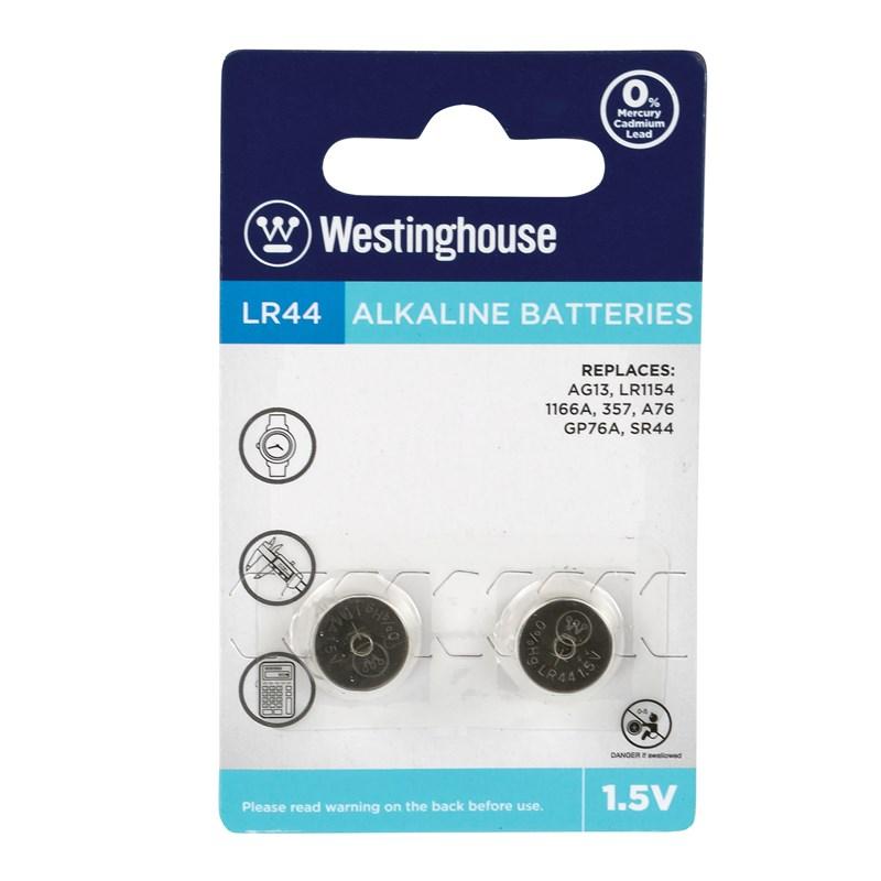 Battery,Westinghouse,Lr44,Pk/2