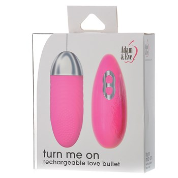 Adam & Eve Turn Me On Rechargeable Bullet box