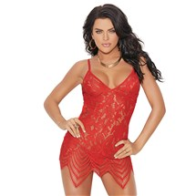 Remy Lace Chemise Red Front