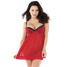 Ruby Red Desires Babydoll front