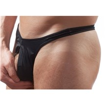 Pull Tab Thong Black