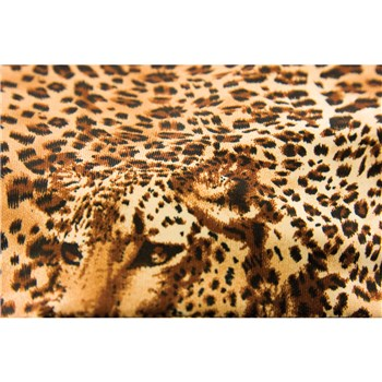 Brown Leopard Shorts material
