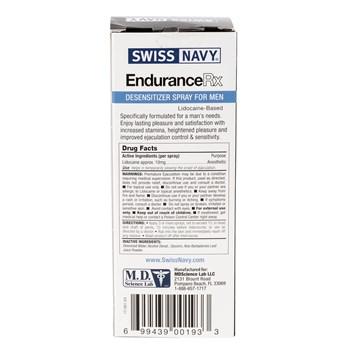 Endurance Rx Male Desensitizer Spray back of box