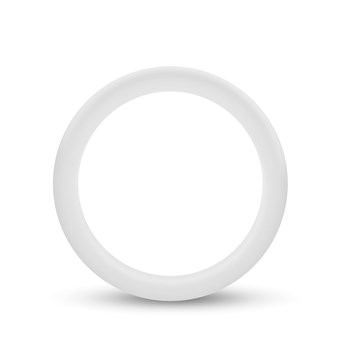Performance Silicone Glo Cock Ring white