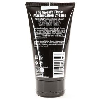 Swiss Navy Masturbat Cream 5 Oz back