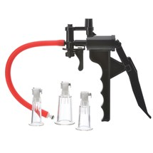 Temptasia Clitoral & Nipple Pleasure Pump all components