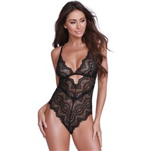Adore Me In Lace Teddy front black