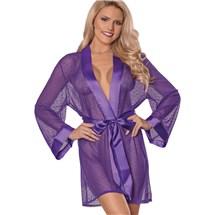 Unwrap Me Kimono Robe purple front