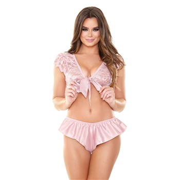 Norah Lace French Top & Flutter Tap Panty os front