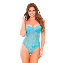 Monroe Lace Teddy front