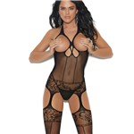 Sexy Open Bust Bodystocking back