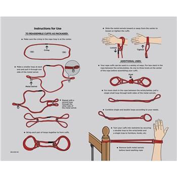 Japanese Cotton Rope Cuffs chart
