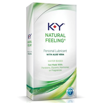 K-Y Natural Feeling With Aloe Vera Lubricant box