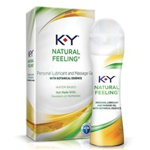 K-Y Natural Feeling Lubricant & Massage Gel with box