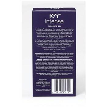 K-Y Intense Pleasure Gel back box