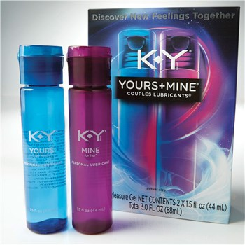K-Y Yours & Mine Couples Lubricant with package