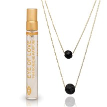 Silver Drop Pheromone Necklace Gift Set table top