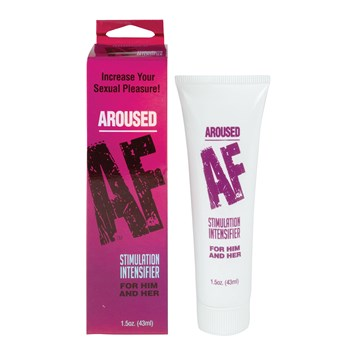 Aroused AF Stimulation Intensifier front of bottle