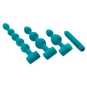 Vibrating Bumpy Bead Set 3 bead sticks and vibrator insert