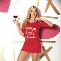 Wine Is My Valentine Sleepshirt front