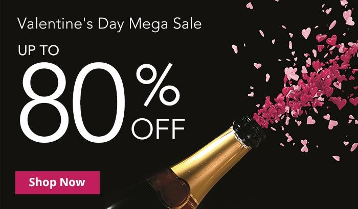 Shop Valentines Day Up To 80% Off Mega Sale!