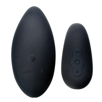 Screaming O Ergonomic Panty Set close up of vibator and remote control