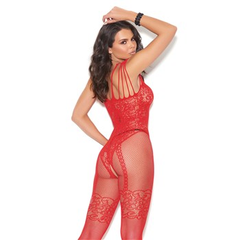 Sexy Illusion Bodystocking red back