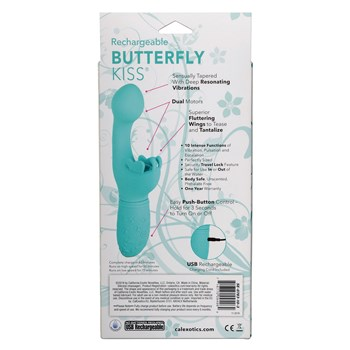 Butterfly Kiss Rechargeable G-Spot Vibrator back of box
