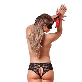 lust and lace booty bondage set back