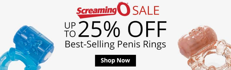 Sale! Up To 25% Off Screaming O Penis Rings!