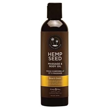 D957 hemp seed massage oil front of bottle