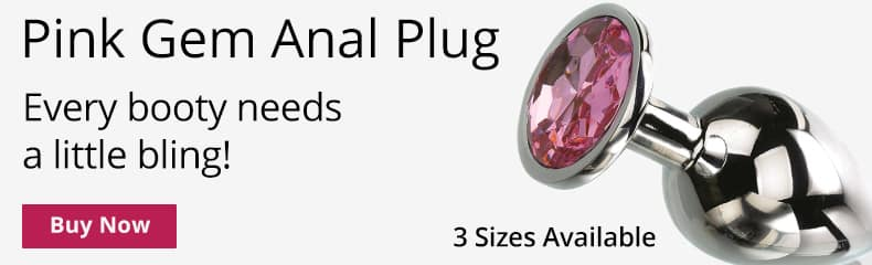 Buy A Pink Gem Anal Plug! 3 Sizes Available!