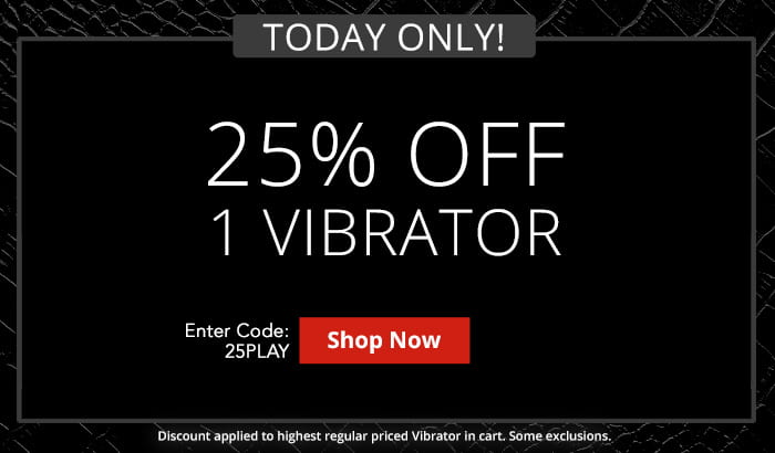 Use Code 25PLAY For 25% Off 1 Vibrator!