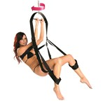 Trinity 360 Degree Spinning Sex Swing With Model Using