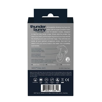 Thunder Bunny Rechargeable Dual C-Ring back of box