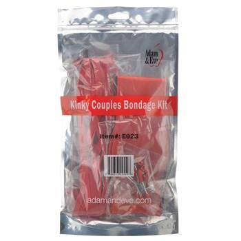 kinky couples bondage kit in packaging