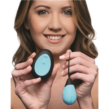 Bang! Rechargeable 10X Vibrating Egg With Remote Control Model Holding Egg and Remote