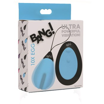 Bang! Rechargeable 10X Vibrating Egg With Remote Control Packaging Shot